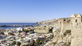 Almeria, Andalusia, spagna, Europa, vista da Alcazaba Immagine Stock