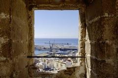 Almeria, Andalusia, spagna, Europa, vista da Alcazaba Fotografia Stock