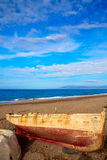 Almeria Cabo de Gata beached boats in the beach Royalty Free Stock Photos