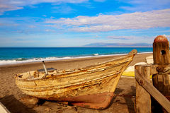 Almeria Cabo de Gata beached boats in the beach Royalty Free Stock Photo