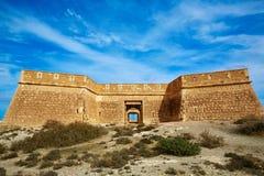 Almeria Cabo de Gata fortress Los Escullos beach Royalty Free Stock Images