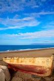 Almeria Cabo de Gata ha tirato le barche in secco nella spiaggia Fotografie Stock Libere da Diritti