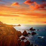 Almeria Cabo de Gata las Sirenas point rocks Stock Photos