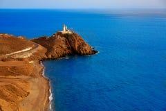 Almeria Cabo de Gata lighthouse Mediterranean Spain Royalty Free Stock Photography