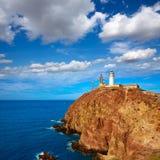 Almeria Cabo de Gata lighthouse in Spain Stock Images