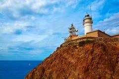 Almeria Cabo de Gata lighthouse in Spain Royalty Free Stock Photography