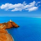 Almeria Cabo de Gata lighthouse sunset in Spain Royalty Free Stock Photos