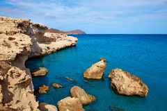 Almeria in Cabo de Gata Los Escullos beach Spain Stock Photography