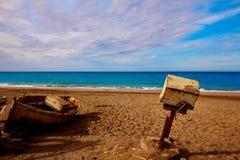 Almeria Cabo de Gata old winche San Miguel Royalty Free Stock Images