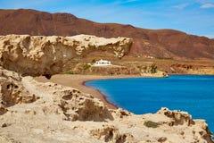 Almeria Cabo de Gata Playa del Arco arch beach Royalty Free Stock Photos