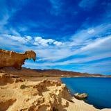 Almeria Cabo de Gata Playa del Arco arch beach Stock Photo