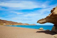 Almeria Cabo de Gata Playa del Arco arch beach Royalty Free Stock Images