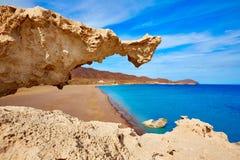 Almeria Cabo de Gata Playa del Arco arch beach Royalty Free Stock Photography