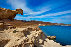 Almeria Cabo de Gata Playa del Arco arch beach Stock Images