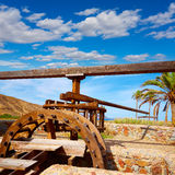 Almeria in Cabo de Gata Rodalquilar waterwheel Royalty Free Stock Photos