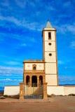 Almeria Cabo de Gata Salinas church in Spain Stock Images