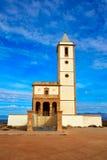 Almeria Cabo de Gata Salinas church in Spain Stock Photos
