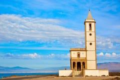 Almeria Cabo de Gata Salinas church in Spain Stock Photography