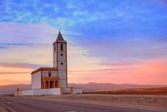 Almeria Cabo de Gata Salinas church in Spain Stock Image