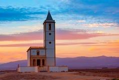 Almeria Cabo de Gata Salinas church in Spain Royalty Free Stock Image