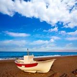 Almeria Cabo de Gata San Miguel beach boats Stock Photography