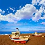 Almeria Cabo de Gata San Miguel beach boats Royalty Free Stock Image
