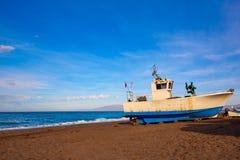 Almeria Cabo de Gata San Miguel beach boats Royalty Free Stock Photo