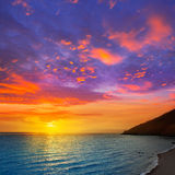 Almeria Cabo de Gata sunset from lighthouse Stock Images