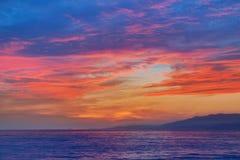 Almeria Cabo de Gata sunset in Mediterranean Stock Images