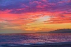 Almeria Cabo de Gata sunset in Mediterranean Royalty Free Stock Photos