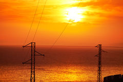 Almeria Cabo de Gata sunset in Mediterranean Royalty Free Stock Photo