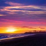 Almeria Cabo de Gata sunset in Retamar beach Stock Photo