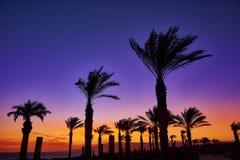 Almeria Cabo de Gata sunset in Retamar beach Royalty Free Stock Photos