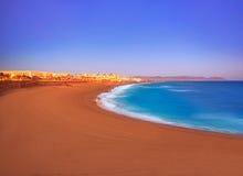 Almeria Cabo de Gata sunset in Retamar beach Royalty Free Stock Photo