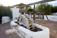 Almeria Cabo de Gata watermill Pozo de los Frailes Stock Photo