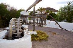 Almeria Cabo de Gata watermill Pozo de los Frailes Royalty Free Stock Image