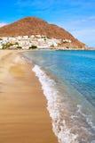 Almeria Cabo Gata San Jose strandby Spanien Arkivbild
