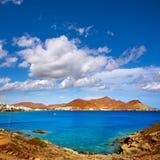 Almeria Cabo Gata San Jose-stranddorp Spanje Royalty-vrije Stock Foto's
