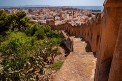 Almeria Castle Stockfotografie