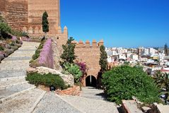 Almeria castle, Spain. Royalty Free Stock Photo