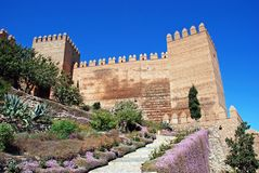 Almeria castle, Spain. Royalty Free Stock Images