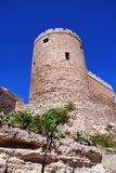 Almeria castle tower, Spain. Royalty Free Stock Images