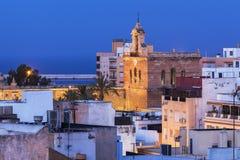 Almeria Cathedral all'alba Immagini Stock Libere da Diritti