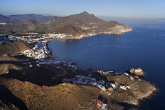 Almeria coastline. Aerial view from the Almeria coastline Stock Photos