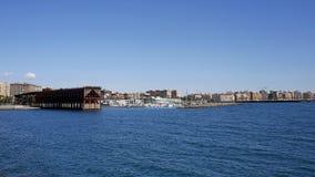 Almeria con cavo Ingles ed il porto, Spagna Immagine Stock Libera da Diritti