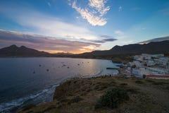 Almeria fishing village royalty free stock photo