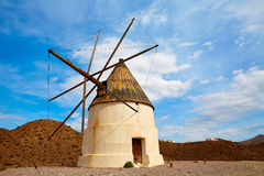 Almeria Molino de los Genoveses windmill Spain Royalty Free Stock Photo