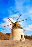 Almeria Molino de los Genoveses windmill Spain Royalty Free Stock Photography