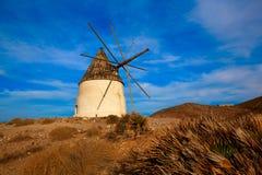 Almeria Molino de los Genoveses windmill Spain Royalty Free Stock Photos