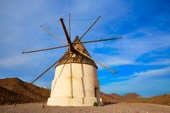 Almeria Molino de los Genoveses windmill Spain Royalty Free Stock Images